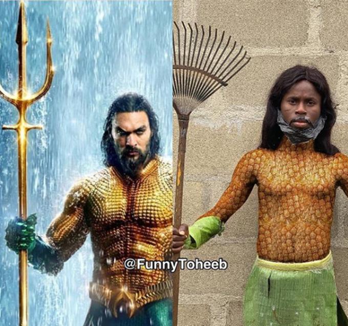 """<p> Aquaman có thể là người lặn sâu và nhanh nhất 7 đại dương nhưng """"AquaFunny"""" mới là thiên tài trong làng cosplay!</p>"""