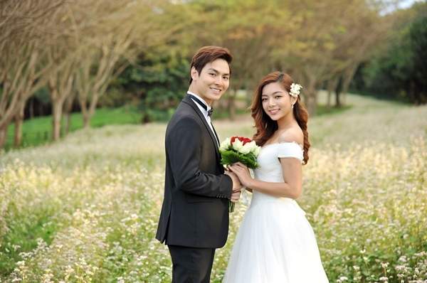 Jay Quân quay cảnh đám cưới ngọt ngào với Katleen Phan Võ.
