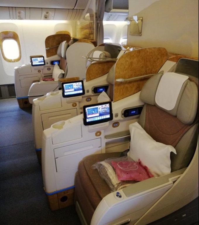 <p> Hãng cũng được trao giải là Hãng hàng không có khoang hạng Nhất tốt nhất thế giới.</p>