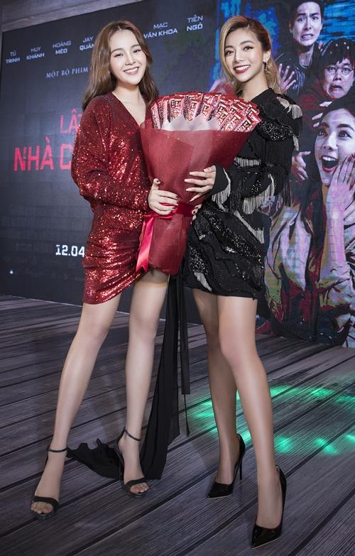 Nữ chính - hot girl Katleen Phan Võ xinh đẹp bên Tam Triều Dâng.