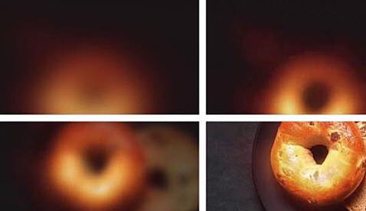 Cách mà hội nghiền đồ ăn nhìn Hố đen vũ trụ. Giống như những chiếc bánh Donut vàng ươm thơm lừng.