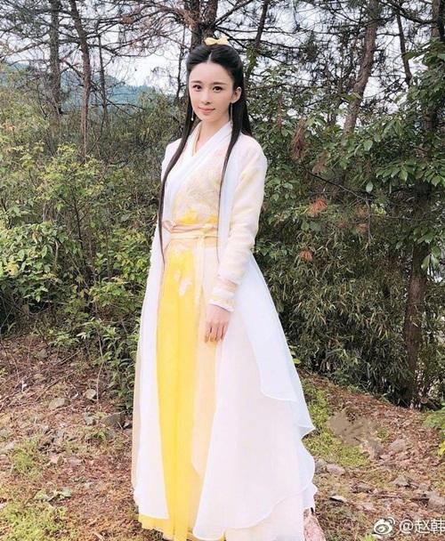 Ở Ỷ thiên đồ long ký 2019, Hoàng sam nữ tử do Triệu Anh Tử (tên cũ là Triệu Hàn Anh Tử) thể hiện. Nữ diễn viên sinh năm 1990 có diện mạo xinh đẹp, được nhận xét hợp vai.