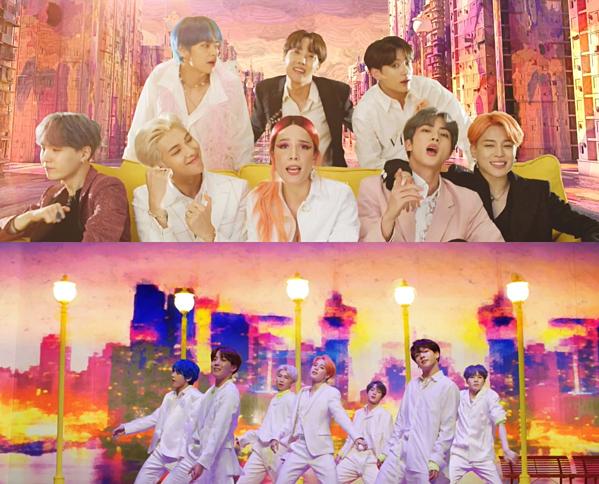 MV Boy with Luv theo concept tươi sáng đúng với thông điệp của bài hát.