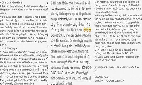 Toàn bộ nội dung bức thư Văn Toàn gửi Xuân Trường