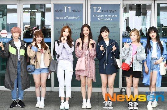 GWSN có mặt ở sân bay từ sáng sớm để lên đường sang Nhật tổ chức fanmeeting.