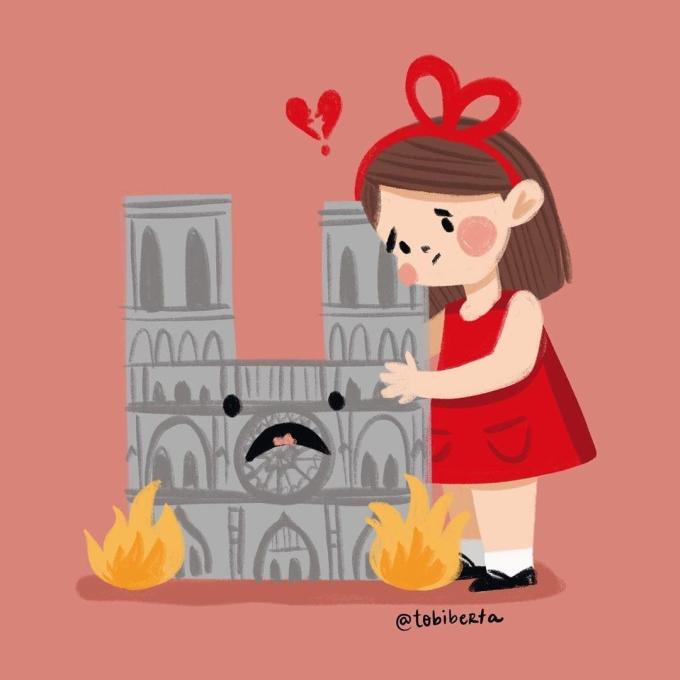 Những bức vẽ cầu nguyện cho Nhà thờ Đức Bà Paris