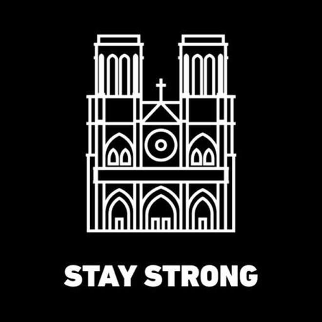 <p> Sự kiện gây chấn động nước Pháp và cả thế giới bởi Nhà thờ Đức Bà Paris là một biểu tượng của kiến trúc, văn hóa Pháp, một công trình nổi tiếng toàn cầu. Nhiều nghệ sĩ đã thể hiện sự chia sẻ với nước Pháp bằng những bức hình ấm áp.</p>