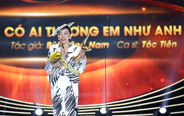 Tóc Tiên chiến thắng giải thưởng Cống Hiến 2019.
