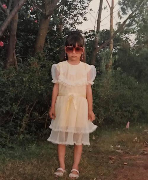 Hồ Ngọc Hà chứng minh là fashionista từ bé. Ngay lúc mẫu giáođã có thần thái rất ngầu.