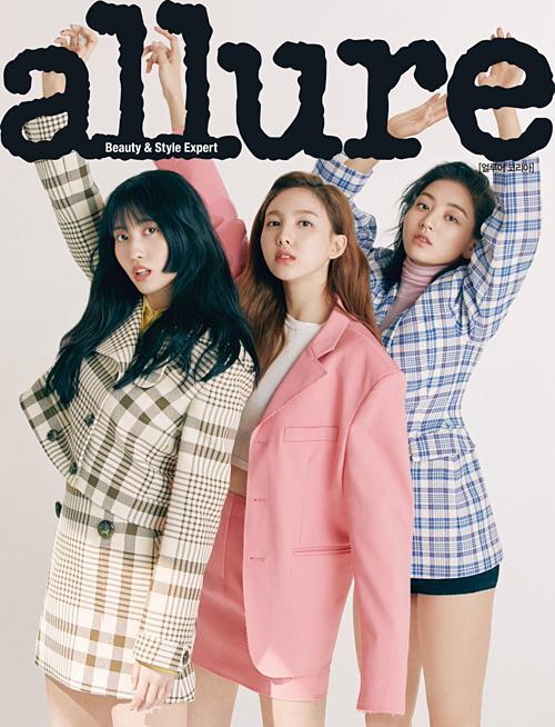 Girlgroup nhà JYPgây chú ý khi khoe nhan sắc trên tạp chí Allure. Đây là bộ ảnh thời trangđầu tiên của Twice trong năm 2019. Nhóm sắp sửa comeback với album Fancy You lên kệ ngày 22/4 tới.