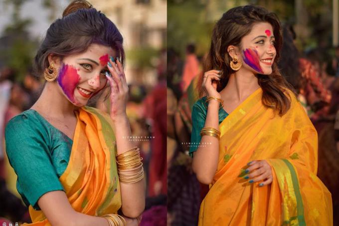 <p> Cô gái trong bức ảnh là Joyeeta Sanyal, vũ công người Ấn trong trang phục truyền thống. Cô gái sở hữu hơn 14 nghìn lượt theo dõi trên mạng xã hội. Tuy nhiên, cô nàng không chia sẻ quá nhiều thông tin về đời tư, ngoài các bức hình xinh xắn của mình.</p>