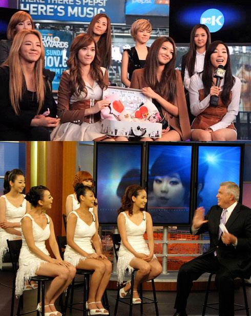 SNSD và Wonder Girls cũng Mỹ tiến.