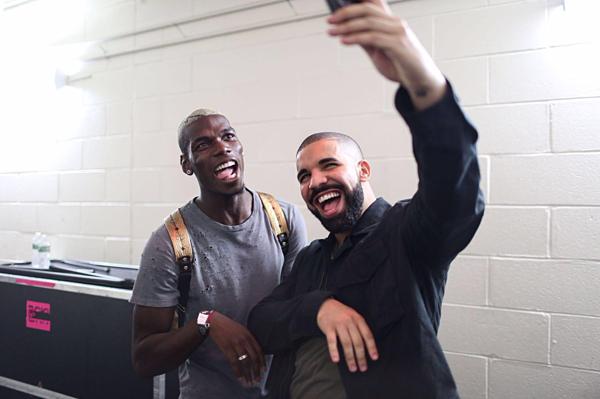 Paul Pogba (Manchester United) và Drake.