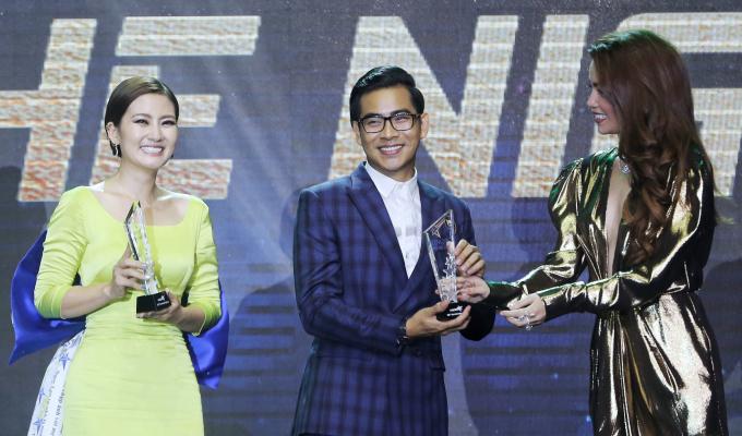 <p> Cả hai bày tỏ sự vui mừng, hạnh phúc khi có được vinh dự này. BTC quyết định trao tặng danh hiệu này cho hai diễn viên vì sự xuất hiện với trang phục đầu tư, ấn tượng.</p>