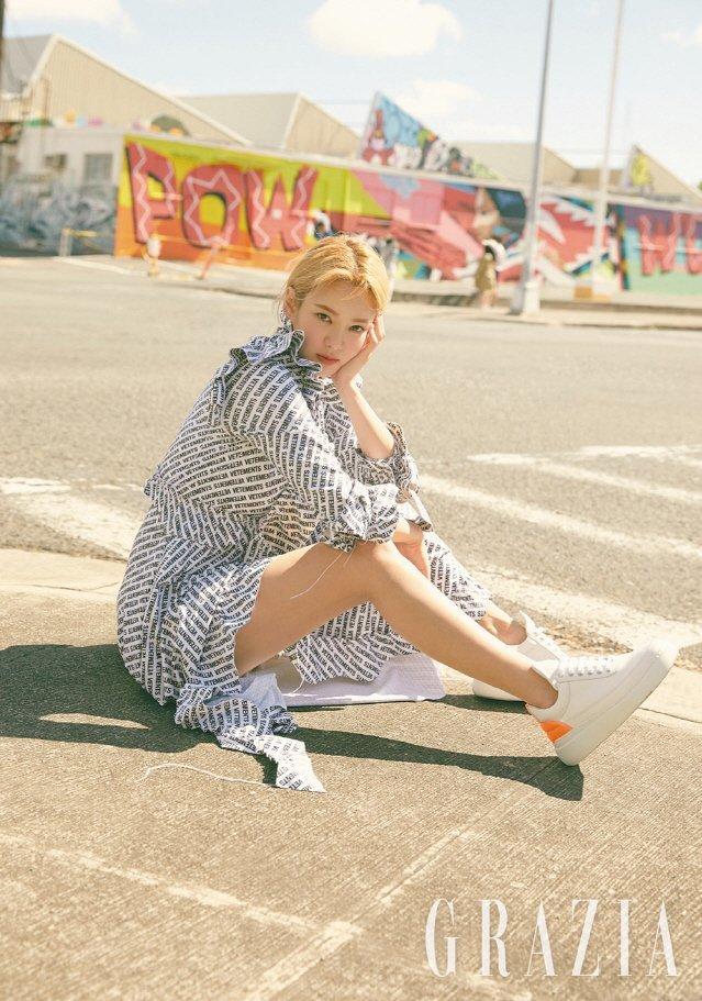 <p> Hyo Yeon (SNSD) chụp bộ ảnh đậm chất mùa hè cho tạp chí Grazia.</p>