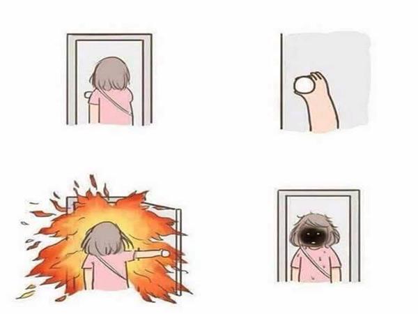 Không cần máy sấy, hãy bước ra ngoài trời nắng vài giây và bạn sẽ có mái tóc... cháy nắng.