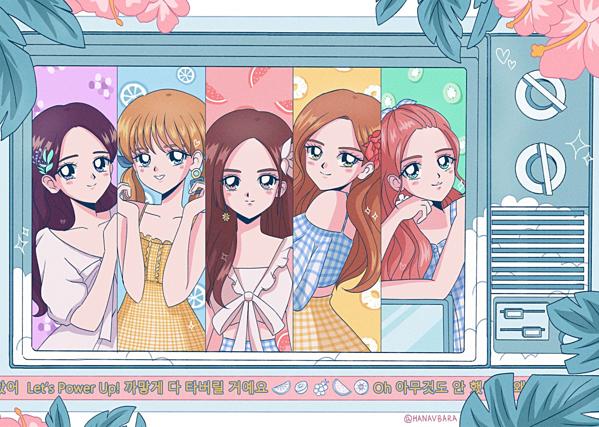 Concept Summer Magic của Red Velvet. Dưới nét vẽ tỉ mỉ của tác giả, các mỹ nhân SM như chính các nhân vật trong thế giới truyện tranh đầy màu sắc.