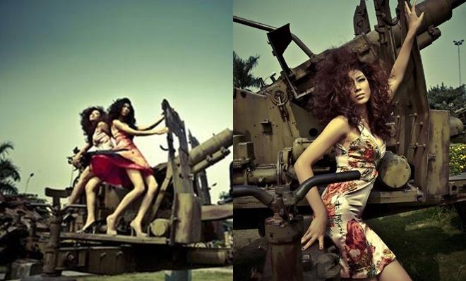 <p> Nguyễn Thị Loan từng bị chỉ trích thiếu tôn trọng quá khứ khi tạo dáng tốc váy, đứng trên một khẩu pháo gắn liền với chiến tích lịch sử của dân tộc. Hoa hậu Biển sau đó đã phải lên tiếng xin lỗi và hứa rút kinh nghiệm trong những lần chụp hình sau.</p>