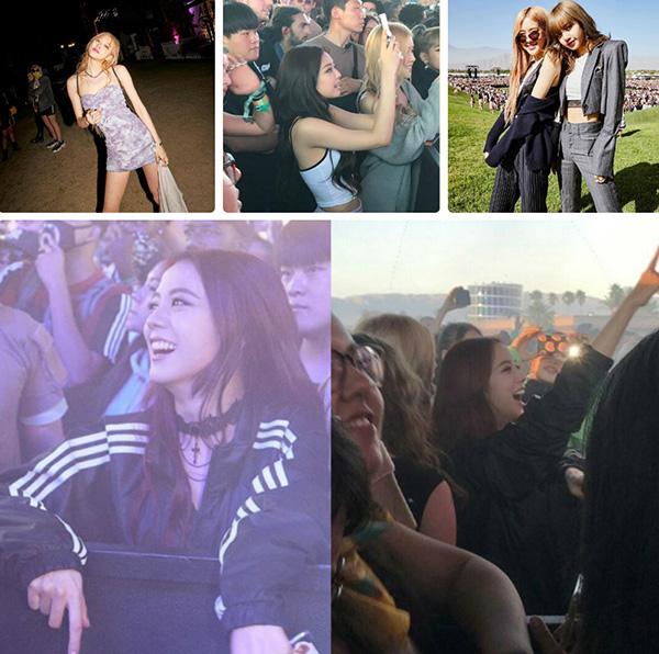 Ji Soo mặt đồ kín mít khi đi dự lễ hội âm nhạc.