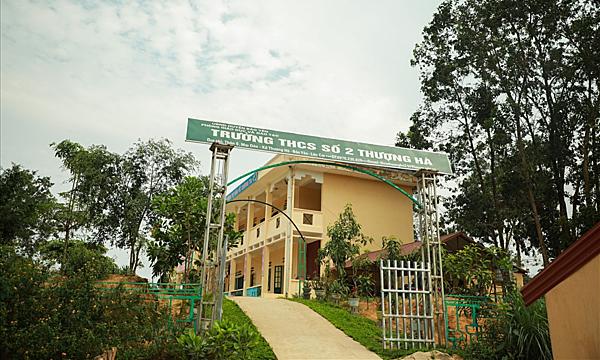 Trường THCS số 2 Thượng Hà. Ảnh: Lao động