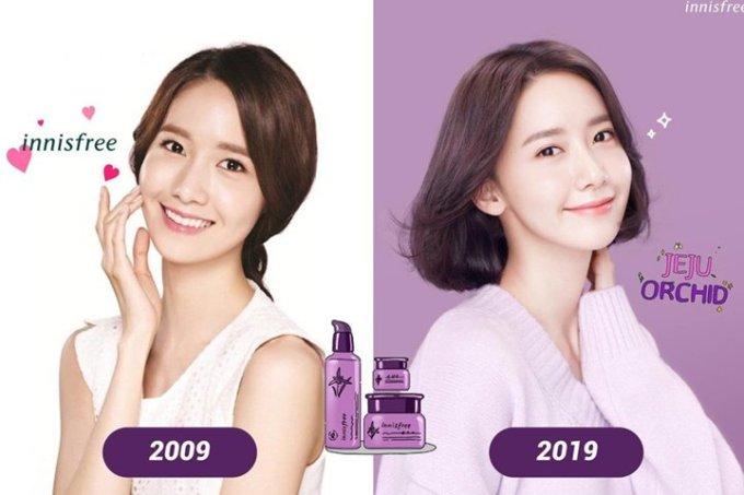 <p> Yoon Ah lập kỷ lục về quãng thời gian làm người mẫu đại diện cho thương hiệu mỹ phẩm Innisfree. Thành viên SNSD trở thành biểu tượng, giúp thương hiệu này có chỗ đứng vững chắc ở thị trường châu Á, hàng năm có doanh thu khủng. Có ý kiến cho rằng không ai ngoài Yoon Ah hợp với Innisfree.</p>