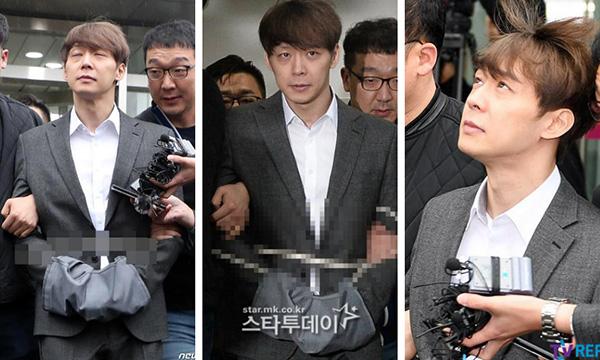 Park Yoo Chụp có biểu cảm lạ khi bị bắt.