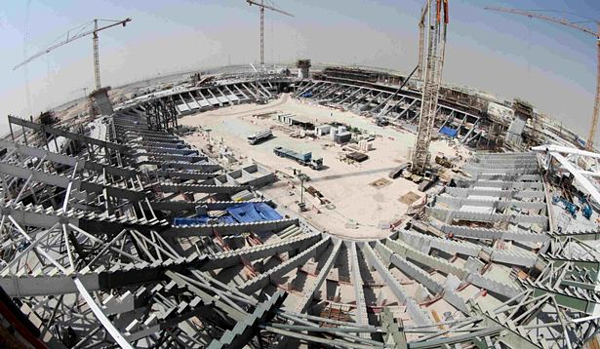 Sân vận động này là một trong nhiều sân đang được xây dựng để phục vụ cho World Cup 2022.