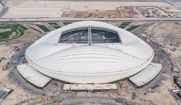 Một góc chụp khác sân vận động  Al Wakrah.Ảnh: Supreme Committee for Delivery & Legacy