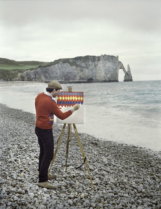 <p> Hai nghệ sĩ người Đức đã ghi lại loạt ảnh hài hước với một người đàn ông bên giá vẽ, dựng giữa phong cảnh đẹp.</p>
