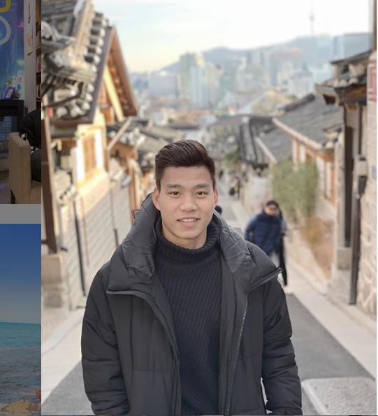 Văn Thanh trong khoảng thời gian diều trị chấn thương ở Hàn