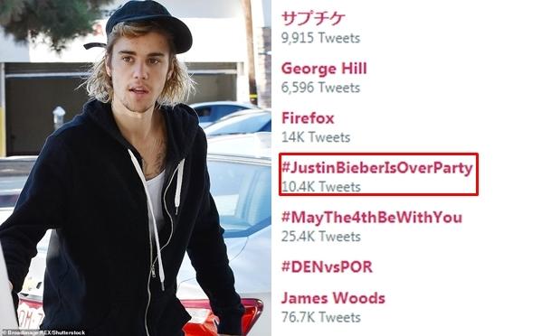 Justin Bieber bị fan quốc tế tẩy chay với từ khóa Bữa tiệc Justin Bieber tàn đời.