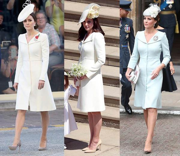 Việc diện lại đồ cũ, hay trang phục có kiểu dáng cũ nhưng với phiên bản màu sắc khác, cũng được cho là vì Công nương luôn muốn giữ hình ảnh đơn giản, không thu hút quá nhiều sự chú ý, đặc biệt trong những sự kiện cô không phải là nhân vật chính như đám cưới của hoàng tử Harry và Meghan.