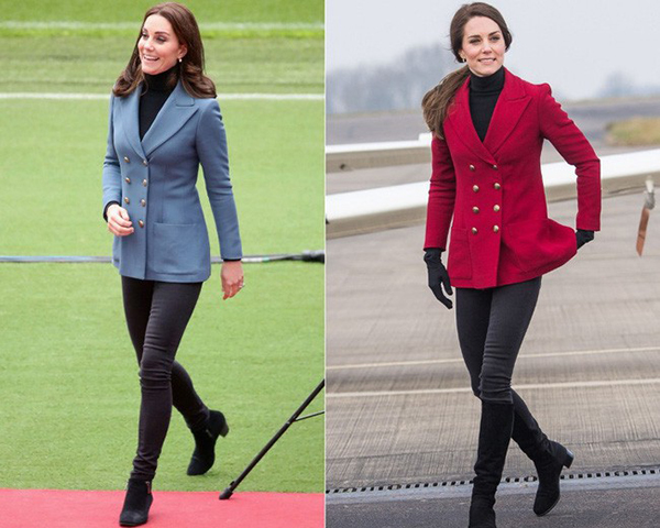 Thói quen này của Kate được lý giải là vì cô thường trung thành với một phong cách duy nhất, thiên về sự thanh lịch và cổ điển. Vì không có quá nhiều mẫu mã đáp ứng được tiêu chí của Công nương nên khi đã thích kiểu dáng nào, cô không ngại sắm nhiều màu thay đổi.