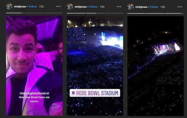 Nick Jonas cũng choáng ngợp khi đến theo dõi concert của BTS.