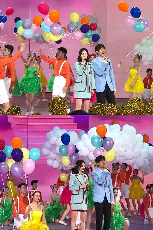 Dương Mịch mới tham gia ca hát trên một chương trình của đài CCTV.