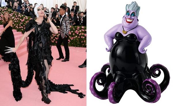 Bóng dáng một nhân vật Disney khác lại xuất hiện trên thảm đỏ Met Gala. Lần này là Ursula qua sự thể hiện của Aquaria.