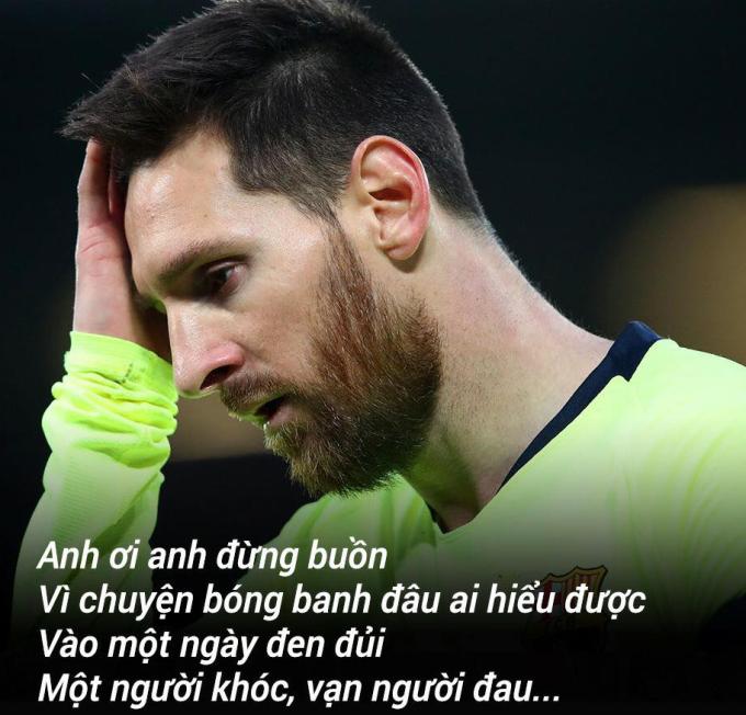 <p> CĐV Barca và người hâm mộ Messi trên khắp thế giới cũng không khỏi đau lòng.</p>