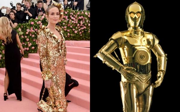 Emily Bunt trông như nhân vật robot C-3PO trong loạt phim Chiến tranh giữa các vì sao.