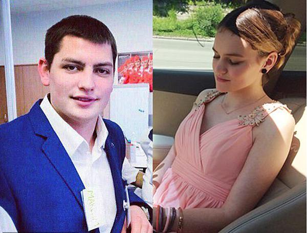 Nam tiếp viên Maxim Moiseev thiệt mạng vụ hỏa hoạnvà bạn gái (phải).