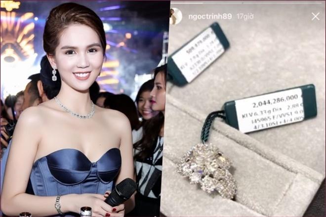 <p> Chiếc nhẫn kim cương có giá hơn 2 tỷ đồng từng được Ngọc Trinh khoe khéo trên trang cá nhân.</p>