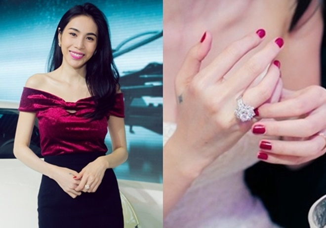 <p> Chiếc nhẫn cưới Công Vinh mua có giá gần 1 tỷ đồng thường được Thủy Tiên mang theo bên mình.</p>