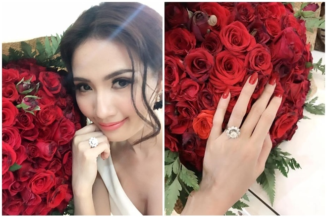<p> Dịp Valentine, Phan Thị Mơ được bạn trai tặng nhẫn kim cương có giá 1,3 tỷ đồng.</p>
