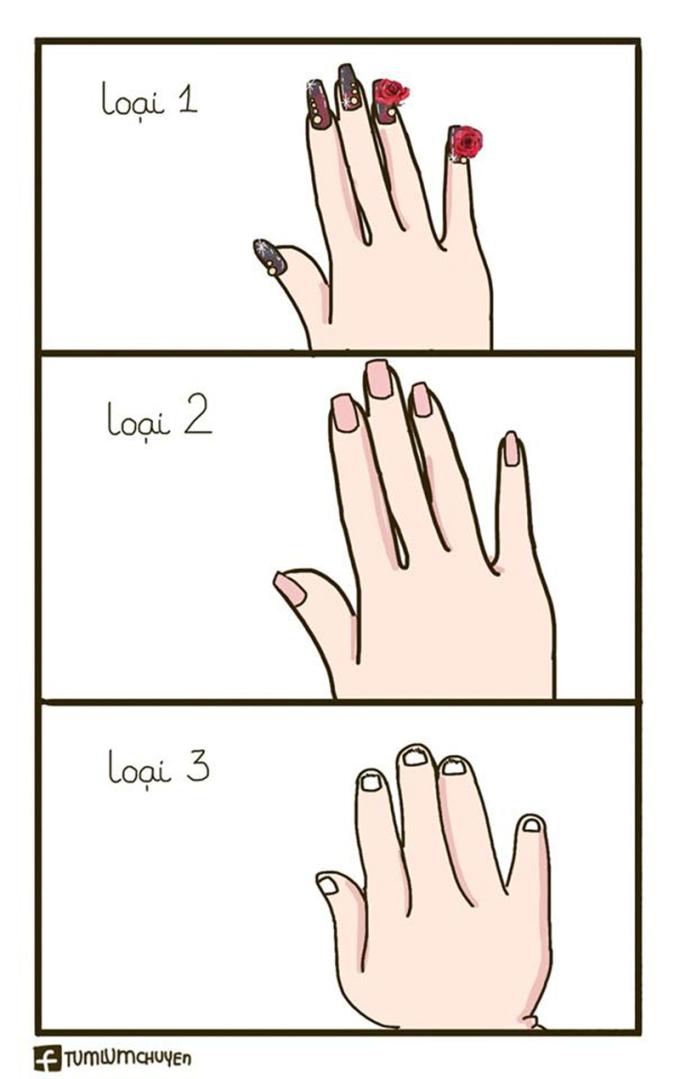 <p> Trên đời có kiểu con gái không biết làm nail là gì.</p>