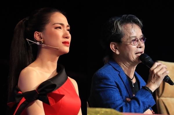 Hòa Minzy bật khóc trước những nhận xét quá thẳng của giám khảo dành cho học trò mình.