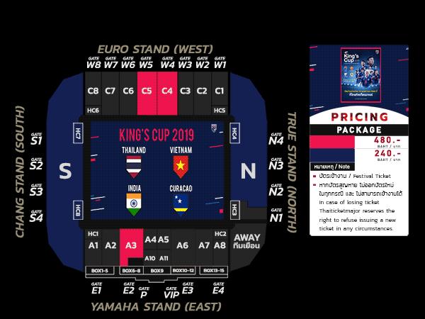 Bảng vé trọn gói 4 trận chỉ dành cho CĐV nước chủ nhà Thái Lan.