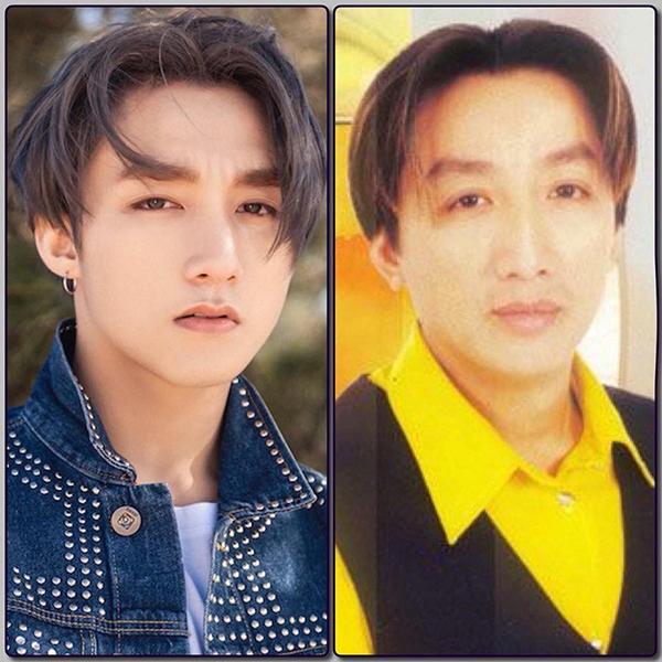 Sơn Tùng M-TP được so sánh với ca sĩ hải ngoại Trường Vũ nhờ mái tóc bổ luống huyền thoại.
