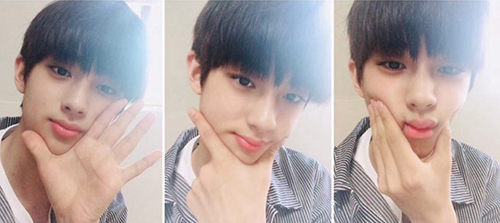 Những bức ảnh tự sướng của Kim Min Gyu chứng minh anh chàng có khí chất idol từ nhỏ.