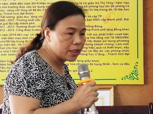 Cô giáo Phạm Thị Vân. Ảnh: Giang Chinh