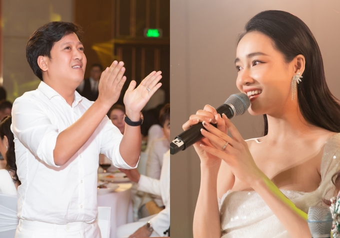 <p> Khi Nhã Phương chia sẻ trên sân khấu với các khách mời, bạn bè, đồng nghiệp, Trường Giang đứng dưới cổ vũ nhiệt tình.</p>