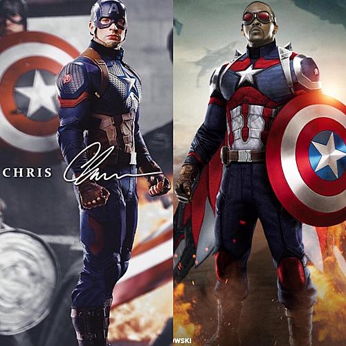 Sự khác biệt giữa hai phiên bản Captain America.
